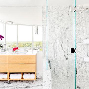 White Plains Penthouse Master Bathroom