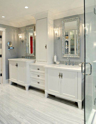 American Traditional Bathroom by Enviable Designs Inc.