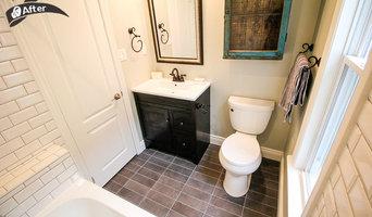 White subway tile standard bathroom renovation
