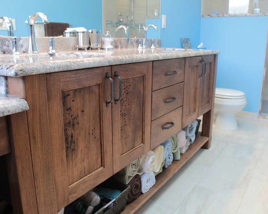 Bathroom Cabinets Walnut walnut bathroom vanity | houzz
