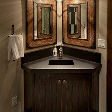 Rustic Bathroom by Hunter and Company Interior Design
