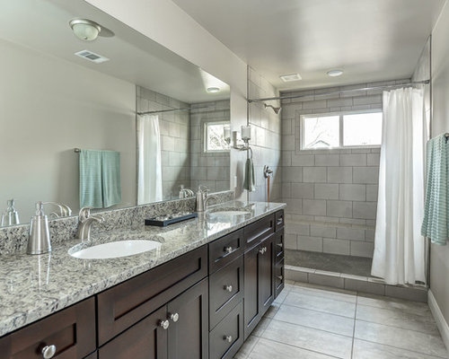 Basement stone shower eclectic bathroom minneapolis by - Budget Bathroom Design Ideas Renovations Amp Photos With
