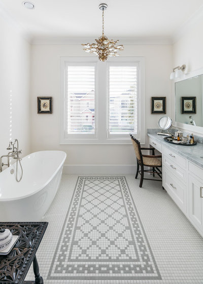 Transitional Bathroom by Whitestone Builders