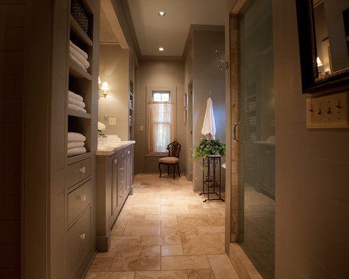 Long Narrow Bathroom Home Design Ideas, Renovations & Photos