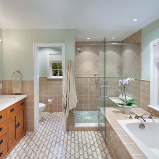 Inspiration for a timeless mosaic tile toilet room remodel in DC Metro