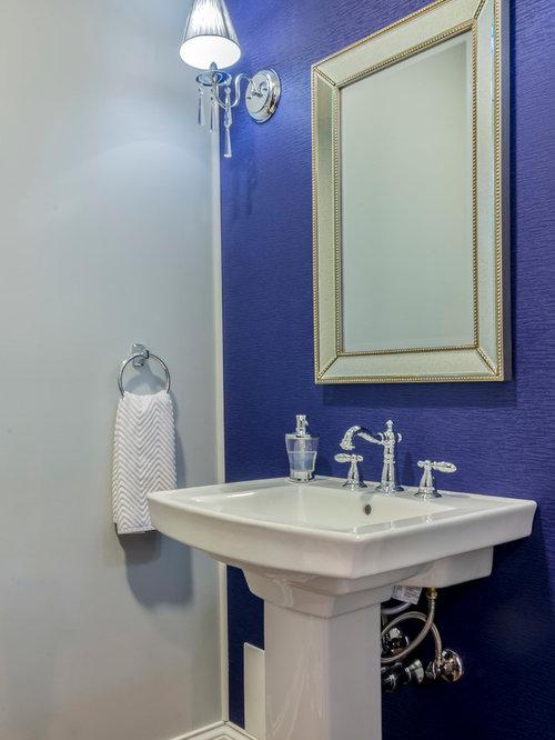 Blue bathroom design ideas renovations photos with for Blue and purple bathroom ideas
