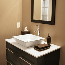 Transitional Bathroom by Distinctive Remodeling Solutions, Inc