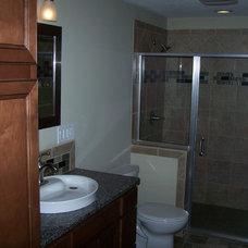 Contemporary Bathroom by Blue Ribbon Construction LLC