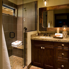 Traditional Bathroom by Hunter and Company Interior Design