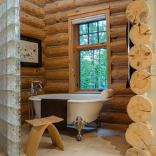 Rustic Bathroom by Bay Cabinetry & Design Studio