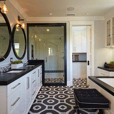 Transitional Bathroom by Brooke Wagner Design