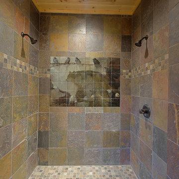 Wildlife Tile Mural in Shower