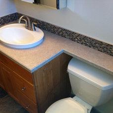 Traditional Bathroom by Calgary Bathworks