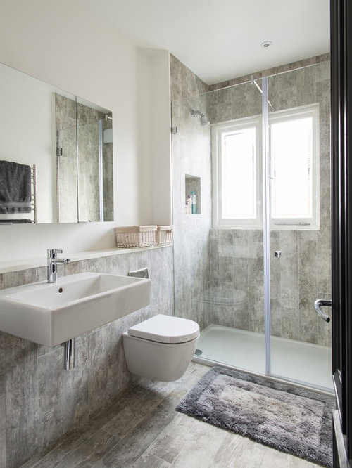 Inspiration For A Medium Sized Contemporary And Modern Shower Room In London With Wall Mounted