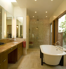 contemporary bathroom by Studio William Hefner