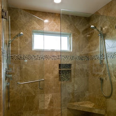 Traditional Bathroom by C & A Builders