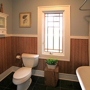 Idee per una stanza da bagno tradizionale con vasca freestanding