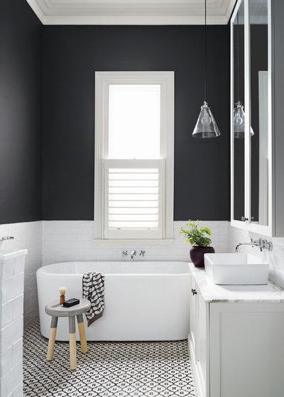 コンテンポラリー 浴室 by Dulux Paint