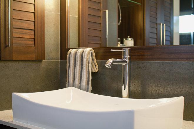 Modern Bathroom by RemodelWest