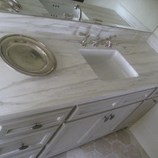 Transitional Bathroom by Max Marble & Granite, Inc.