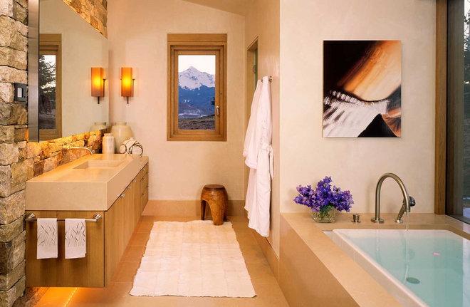 Rustic Bathroom by Poss Architecture + Planning + Interior Design