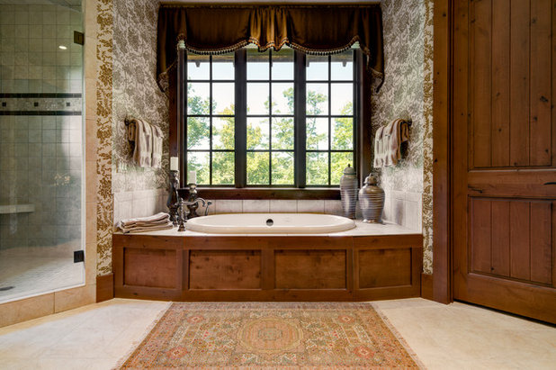 Transitional Bathroom by Dianne Davant and Associates