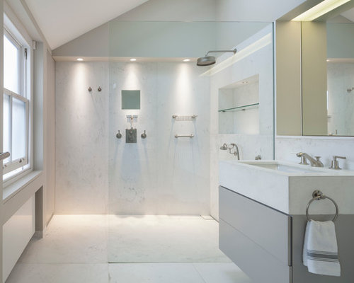 Master ensuite houzz for Modern small ensuite