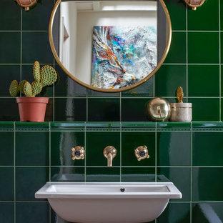 Eklektisches Badezimmer in London