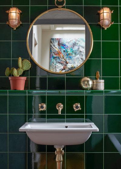 Eclectic Bathroom by Caroline Ashenden Ltd