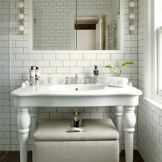 Transitional Bathroom by STEPHEN FLETCHER ARCHITECTS