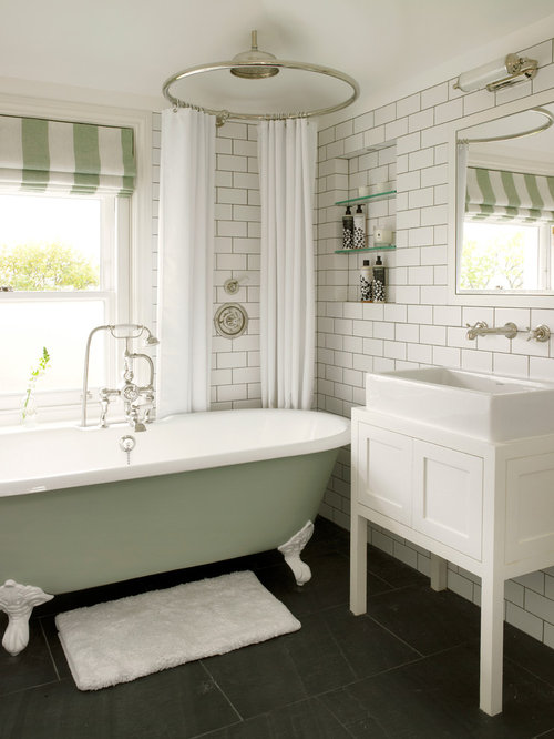 Clawfoot Tub Bathroom Houzz - Clawfoot tub in small bathroom