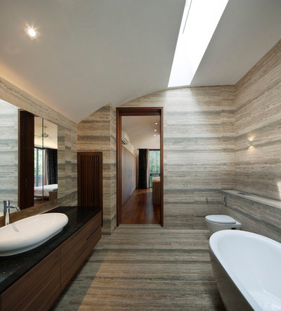 Contemporary Bathroom by Wallflower Architecture + Design