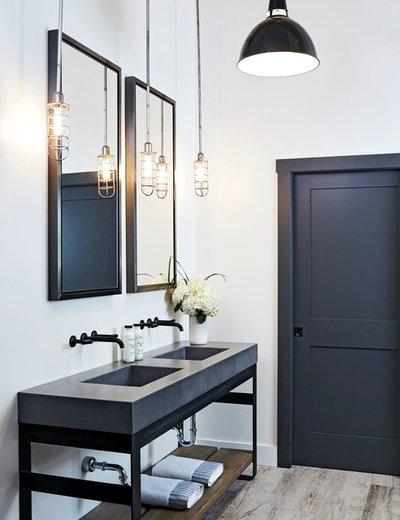 Rustic Bathroom by Design Bar
