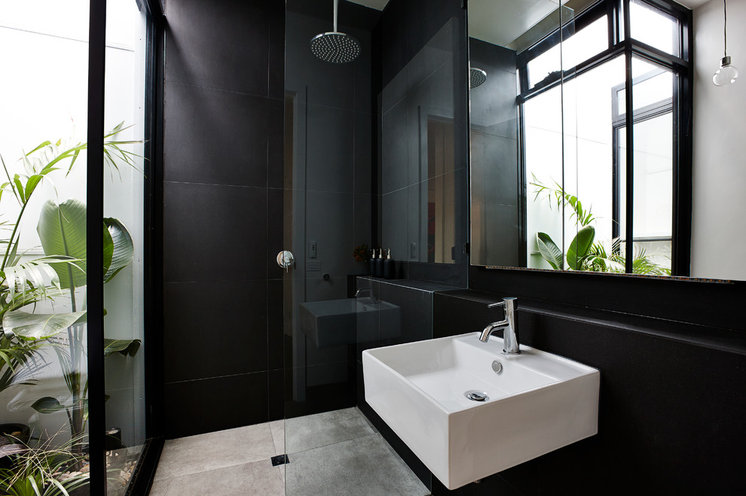 Contemporary bathroom remodeling