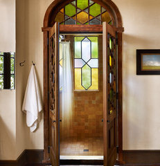 mediterranean bathroom by Clayton&Little Architects