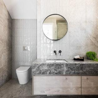 Design ideas for a contemporary bathroom in Brisbane.