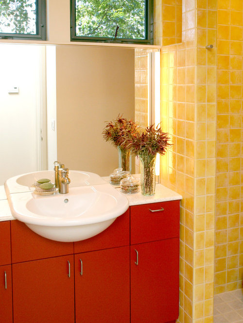 Black And Yellow Bathroom Design Ideas Renovations
