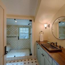 Farmhouse Bathroom by JMA (Jim Murphy and Associates)