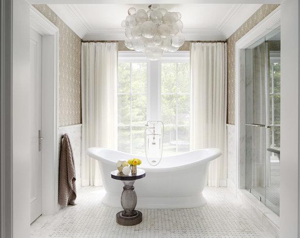 American Traditional Bathroom by Tom Stringer Design Partners
