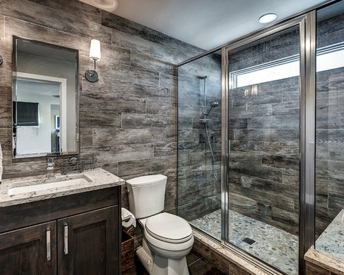 Rustic Bathroom Designs: Bathroom Design Ideas, Remodels & Photos With An Alcove Shower