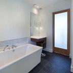 Northwest Stone Mosiac Shower Bathroom