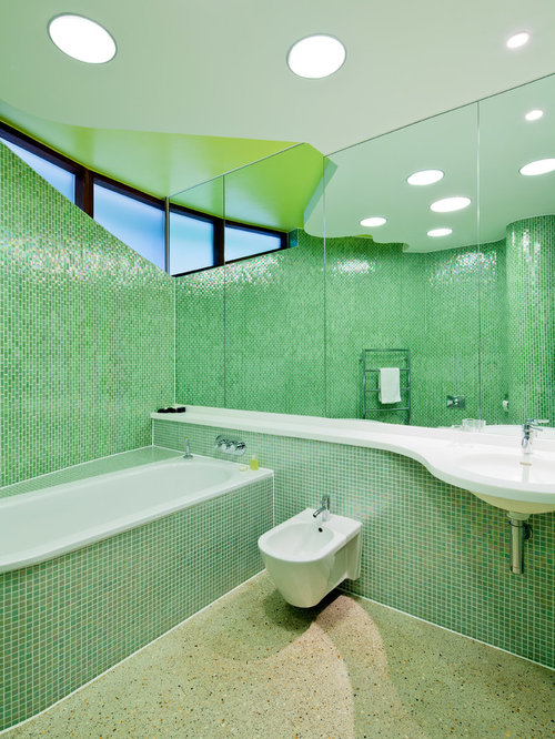 mosaic tile bathroom houzz