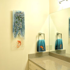 asian bathroom by Designer Glass Mosaics