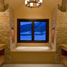 Rustic Bathroom by Environmental Dynamics, Inc.
