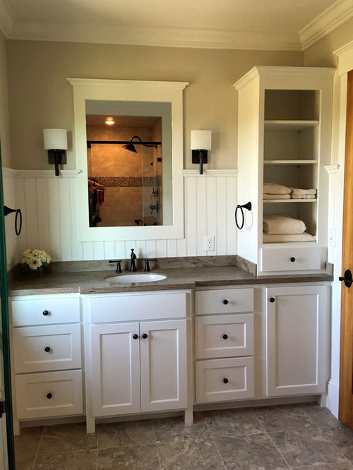 White cabinets bathroom