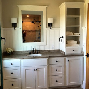 75 Beautiful Rustic Bathroom With White Cabinets Pictures Ideas December 2020 Houzz