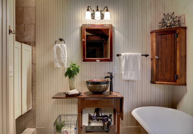 Rustic Bathroom by Michelle Fries, BeDe Design, LLC