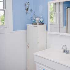 Farmhouse Bathroom by Amy Clark Studios