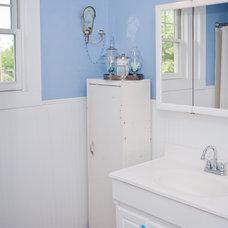 Farmhouse Bathroom by Amy Clark Studios