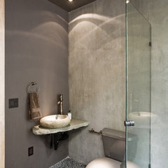 asian powder room by Francis Gough Architect Inc